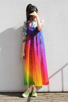 style bubble - rainbow colours and print clash