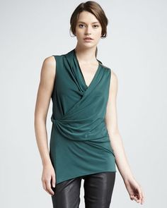 Twist-Wrap Top by Halston Heritage at Neiman Marcus.#NMFallTrends