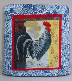 Kitchenaid Mixer Cover Blue with Rooster by PatsysPatchwork, $38.00
