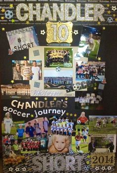 Senior Memory Board example for OHS Soccer Banquet. Need bi-fold presentation boards ~ Sheila