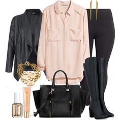 """#plus #size #plussize #outfit """"Blush - Plus Size"""" by alexawebb on Polyvore"""