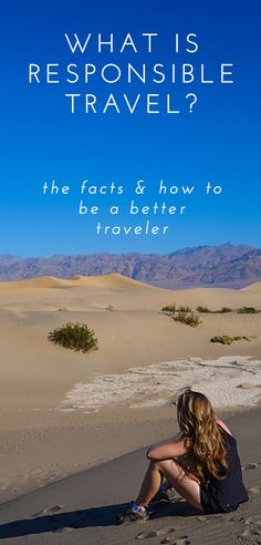 What is Responsible Travel? It's not as difficult as you might think. Learn the difference between responsible tourism and responsible travel. Click through to discover some very simple and effective ways you can be a more responsible traveler.