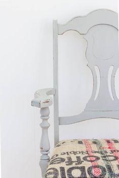 Hand Painted Coffee Sack Chair #sponsored