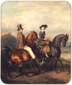 Juliusz Kossak, Equestrian Portrait of the couple łubieński 1856 Painted Horses, Horse Artwork, Old Paintings, Horse Paintings, Dutch Painters, Equine Art, Beach Art, Beautiful Horses, Painting & Drawing