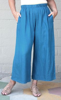 BRYN-WALKER-Flax-Lightweight-Linen-FLOOD-PANT-Wide-Pants-S-M-L-XL-2014-FALL