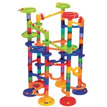 Marble race. I think my son would love this. He's played with one before and kept him entertained for a long time!