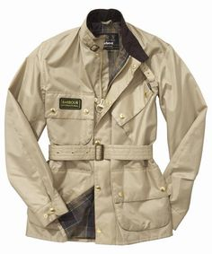 Mens Barbour A7 Brass Jacket - Stone