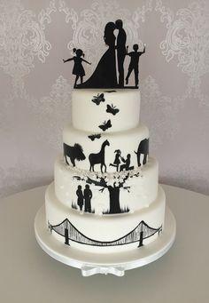 Wedding Cake Maker, 4 Tier Wedding Cake, Luxury Wedding Cake, Dream Wedding, Amazing Wedding Cakes, Elegant Wedding Cakes, Wedding Cake Designs, Amazing Cakes, Silhouette Wedding Cake