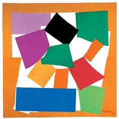 "Henri Matisse,""L'Escargot"", 1953  Gouache on paper, cut and pasted on paper mounted on canvas, 2864 x 2870 mm."