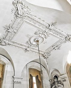 Panel Moulding, Wall Molding, Moldings And Trim, Crown Moldings, French Country Living Room, French Country Decorating, Baroque Architecture, Architecture Details, Interior Trim
