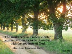 The world is permeated with the goodness of God.