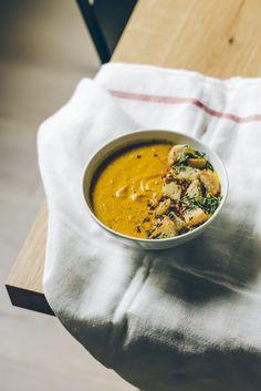 whole roasted cauliflower turmeric soup