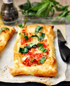 What is not to like about an easy caprese tart?