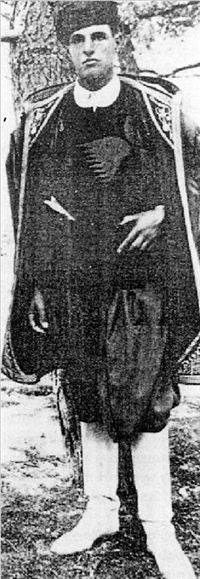 "John Pendlebury, the Legendary ""Cretan Lawrence""  in Cretan costume by Patrick Leigh Fermor"