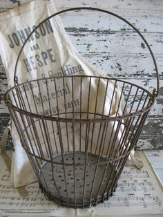 Rustic Farmhouse Egg Basket by SweetMagnoliasFarm on Etsy - 30 Year Payment Schedule - Watch this before you apply first time VA loan. - Rustic Farmhouse Egg Basket by SweetMagnoliasFarm on Etsy Vintage Decor, Vintage Antiques, Shabby, Egg Basket, Victorian Lace, Wire Baskets, Farmhouse Chic, Farm Life, Farm House
