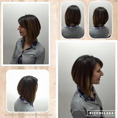 We love a steep angled bob. You'd be amazed at how much precision goes into this professional cut! Cut & blow dry shown here by our award-winning Nathan ✂  To book or enquire call 02920461191 O.Constantinou & Sons, 99 Crwys Rd, Cardiff. CF24 4NF  #simonconstantinou #cardiffsalon #bob #lob #angledbob #longbob #hairstyles #balayagebob