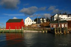 Bright skies and a 42 foot tide at Hall's Harbour, Nova Scotia on January 23, 2015