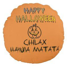 Lovely fabulous Halloween Decor Round Pillow