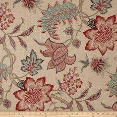 Online Shopping for Home Decor, Apparel, Quilting & Designer Fabric Sunroom Decorating, Jacobean, Red Accents, Home Decor Fabric, Sewing Notions, Toss Pillows, Fabric Swatches, Fabric Design, Screen Printing