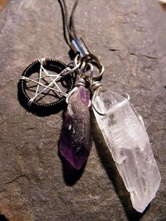 Quartz and Amethyst Pentacle