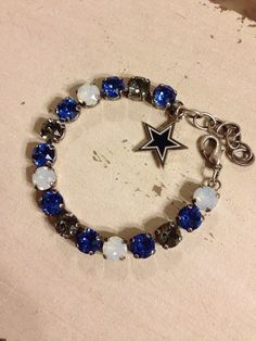Dallas Cowboys Swarovski team bracelet on Etsy, $35.00 #dallas #cowboys