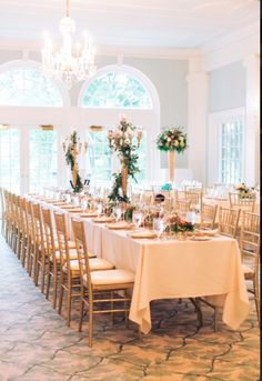 Mixing gold accents, white linens and greenery in the floral arrangements of this Fox Chapel Golf Club reception is elegant and classy. // jpbands.com