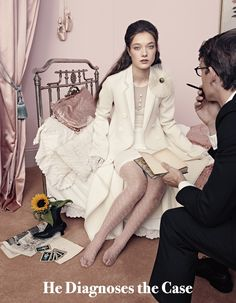 A love Story: Yumi Lambert by Elena Rendina for Numero Tokyo January 2016 Live Fashion, Fashion Beauty, Patterned Tights, Lace Gloves, Editorial Fashion, Magazine Editorial, Pretty In Pink, Love Story, Tokyo