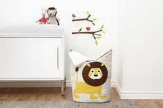 3 Sprouts Baby Laundry Hamper Storage Basket Organizer Bin for Nursery Clothes, Lion Kids Storage, Toy Storage, Storage Baskets, Basket Organization, Kids Room Organization, Diy For Kids, Gifts For Kids, 3 Sprouts, Modern Toys