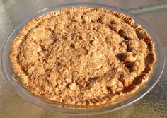 T.G.I.G.F! Allergy Friendly Pie Crust with Fruit Filling and Crumb Topping Option.  This is by far the easiest pie to make and allergy free too. You simply press the pie crust into the pie plate, fill with you favorite fruit, top with a brown sugar, cinnamon crumb topping and bake. If you are not filling the crust, simply poke holes with a fork in the bottom of crust and bake until light golden brown, use as desired. It doesn't get better than this!