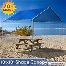 Our shade canopy is available in four colors. The canopy is great for flea market vendors or backyard shade elegance. Tarp Shade, Shade Canopy, 10x10 Canopy, Canopy Frame, Canopy Outdoor, Canopy Tent, Outdoor Decor, Tents, Backyard Shade