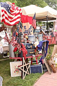 display . flea market. photo by french larkspur