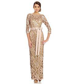 Tadashi Shoji Sequined Lace Gown | Dillard's Mobile