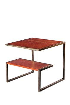 Copenhagen Multi Level Side Table - Pecan
