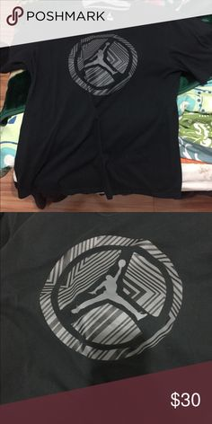 f61c9580c88 Shop Men s Jordan Black size XL Tees - Short Sleeve at a discounted price  at Poshmark. Description  A sports shirt.
