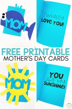 Need ideas for an easy DIY Mother's Day crafts and cards? Have your students make homemade gifts in the classroom using my easy art templates and free card printable. These cards are simple and moms will love them! Lots of different projects to chose from | teachingspecialthinkers.com #mothersdaycrafts #mothersday