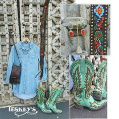 Outfit of the day! Old Gringo! Velvet heart! Navajo pearls! STS! Elegant Ranch!! Tasha Polizzi! Follow @teskeys on IG for pricing and purchase! #Teskeys #OOTD #Outfitoftheday