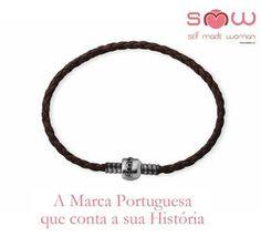 Pulseira Couro SMW Couro Castanho Chocolate | Prata de Lei 925 1SMW903A.1