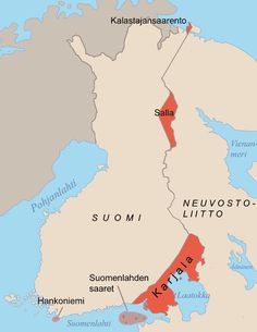The areas ceded by Finland to the Soviet Union after the Continuation War. Porkkala was returned to Finland in The Moscow Armistice was signed between Finland on one side and the Soviet Union and United Kingdom on the other side on… Helsinki, World History, World War Ii, Ww2 History, History Of Finland, Historical Maps, Military History, Norway, This Or That Questions