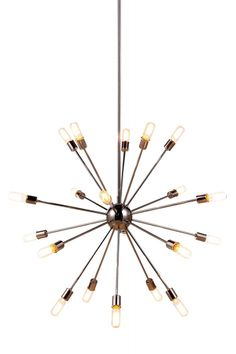 """Cork Pendant Lamp D:40.5in H:72in Lt:20 Polished Nickel Finish. The Cork Collection is contemporary chic for your living space. Available in pendant or flush mount in your choice of polished nickel or vintage steel.Specifications:   Dimensions 40.5"""" W x 72"""" H   Finish Polished Nickel    Chain/Wire Included  3.2 ft.    Light Bulbs  20    Bulb Type  E26    Bulb Wattage  40    Max Wattage  800    Voltage  110V-125V    Hanging Weight  19"""