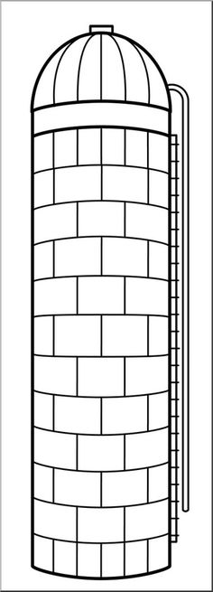 Barn pattern. Use the printable outline for crafts