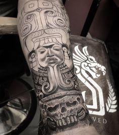 33 Mejores Imagenes De Tatuajes Mayas Mayan Tattoos Aztec Tattoo