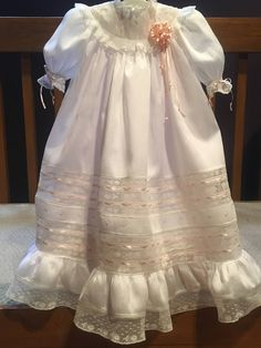 French Handsewn Maline Lace Heirloom Gown with Slip, Christening Dedication or Baptism Gown, Portrait Gown, Baby Christening Gowns, Baptism Gown, Baby Girl Dresses, Flower Girl Dresses, Kid Dresses, Charlotte Dress, Blessing Dress, Gown Pictures, Angel Gowns