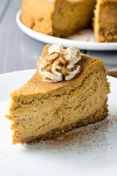 Autumn Cheesecake: Classic cheesecake infused with creamy pumpkin, plus a double dose of pumpkin spice.