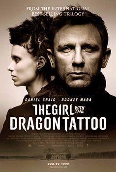La chica con el tatuaje del dragón (2011), de David Fincher, basada en la novela del sueco Stieg Larsson, Los hombres que no amaban a las mujeres, primera de una trilogía policíaca titulada Millennium.