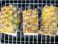 Gegrilde ananas met vis - Actueel - La Place Grillin And Chillin, Zucchini, Grilling, Favorite Recipes, Vegetables, Barbecue, Ethnic Recipes, Exotic, Bbq