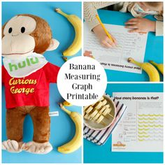 We're going bananas with measuring! Get this free printable to measure all sorts of fun things around the house with help from Curious George! All Curious George seasons are now streaming only on Hulu (ad) Curious George Crafts, Curious George Party, Preschool Class, Kids Lighting, Children's Literature, Classic Books, Preschool Activities, Fun Things, Free Printable