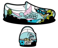 Illustration (shoe) - Jared Hunter, 2010 Media Design, School Design, Converse Chuck Taylor, High Top Sneakers, Creativity, Digital, Illustration, Shoes, Shoe