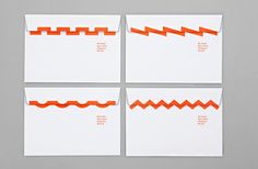 Branded envelopes for Swiss binding specialists Bubu by graphic design studio Bob Design