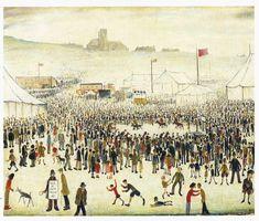 The Fair at Daisy Nook by L. Lowry - art print from King & McGaw Salford, Manchester Art, Nostalgic Art, Smart Art, English Artists, Naive Art, Banksy, Modern Wall Art, Textile Prints