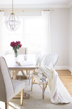sunny and bright dining room